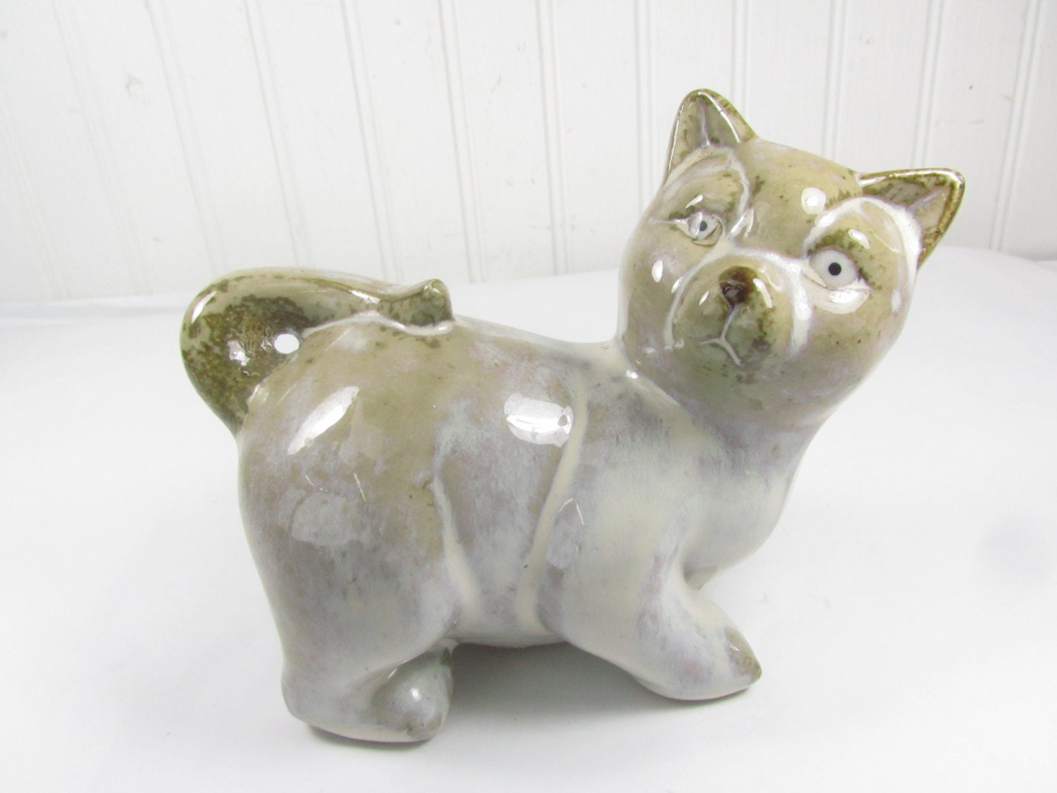 cat figurine porcelain cat home decor farmhouse