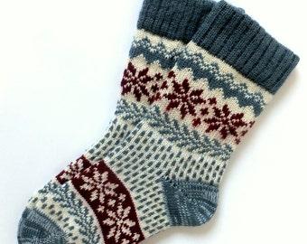 Wool Socks Scandinavian style Winter wool socks Warm women wool socks Knit wool socks