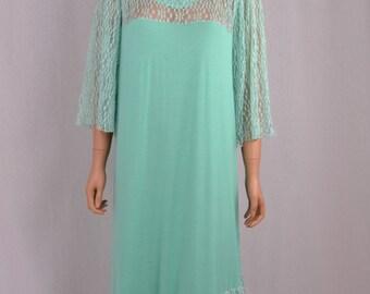 Dress tunica style boheme mint