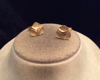 Vintage Mens Goldtone Cuff Links