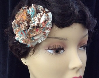 Vintage Soft Multi Colored Floral Hair Clip/Pin