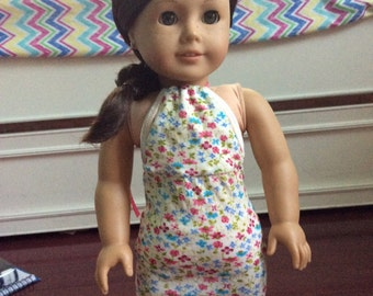 BTS SALE!! American Girl Doll Floral Halter Dress