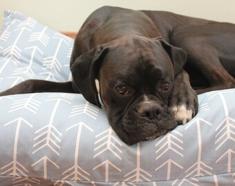 Arrow Dog Bed. Pet Duvet Bed Cover. Canvas Medium/Large Dog Bed Cover