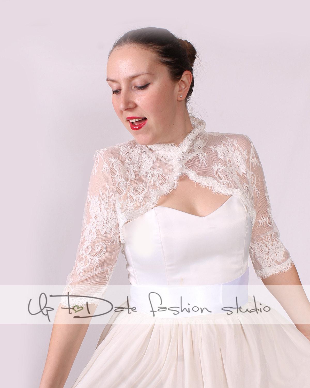 Plus Size Bridal Cover Up/lace Shrug /jacket / Wedding Bolero