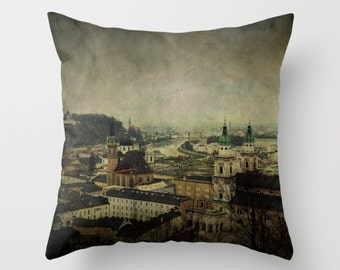 Salzburg-Austria Pillow Cover, Indoor Throw Pillow Cover, Throw Pillow Cover, Throw Pillow, Design Pillow, Architecture, Pillow Cover