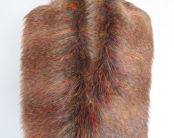 faux fur collar, rainbow fake fur, faux fur scarf, wrap, shrug