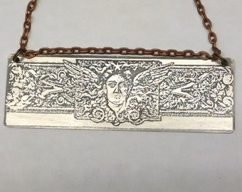 Silver Printer's Ornament Pendant