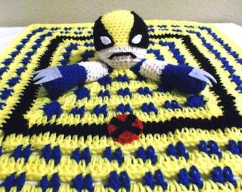 X-Men Wolverine Snuggle Buddy Baby Security Blanket