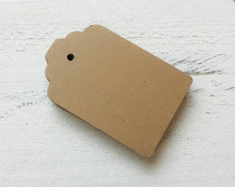 25 Kraft Gift Tags-Hang Tags-Price Tags-Blank-Craft Punch