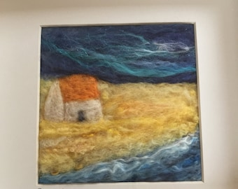 Golden Sands needle felted picture