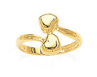 14K Yellow Gold Heart Ring, Heart Ring, Love, 14K Solid Gold, Gold Ring, Gold, Yellow Gold, Heart, Heart Jewelry, Gold Jewelry