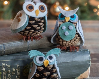 Template for Felt and Pinecone Owl