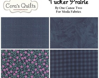 Tucker Prairie Fabric Bundle - Navy Prints