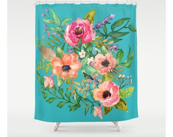 Pastel Floral With Blue Background