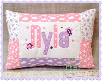 Custom Personalized Pillow - Kids pillow - Applique Pillow - Embroidered Pillow - Baby Pillow - Baby Shower Gift - Girls Pillow -
