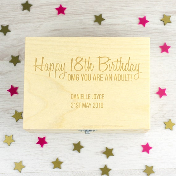 Birthday Keepsake Box Happy 18th Birthday Personalised