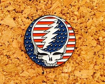 Grateful dead 50 year hat pin