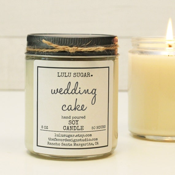wedding cake scented candles wedding cake scented soy candle 8 oz jar soy candle gift 24032