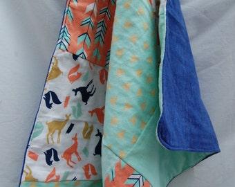 Modern Woodland Baby Blanket