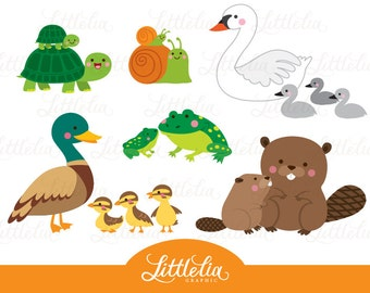 Pond animals clipart images galleries for Pond animals