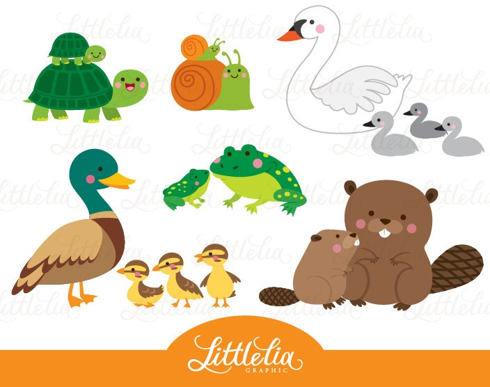 Free pond animals clipart for Pond animals