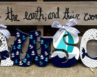 Nautical Wall Letters