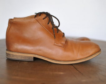 Vintage HANDMADE MEN'S ANKLE shoes ...(048)