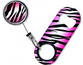 Zebra - Mini Opener with Retractable Reel