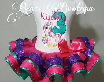 Cadance My Little Pony Ribbon Tutu Set