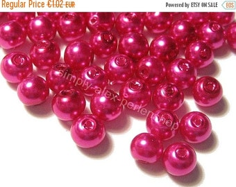 ON SALE 240 WACHSPERLEN 4mm Pink