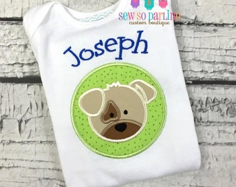 Puppy Baby Shirt - Baby Boy Dog outfit - Baby Boy Puppy Outfit - Personalized baby boy clothes