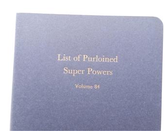Super Powers - Large Funny Letterpress Journal, Jotter, Cahier, Moleskine - A5 Lined Notebook