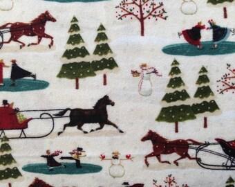 Fabric HALF YARD: Skaters Village - Flannel - Karen Cruder for Windham Fabrics