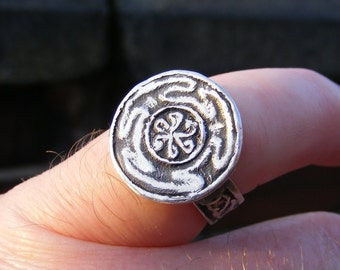 Hekate's Wheel, Sterling Silver Ring, Spiritual, Hekate, Hecate, Wicca, Wiccan, Strophalos, Witch, Pagan, by the Green Man