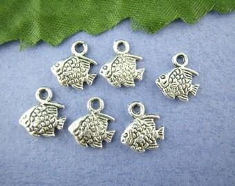 5 Tibetan Silver Tiny Fish Charms