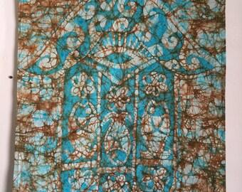 Batik wall hanging Hand of Fatima or Hamsa - Beautiful House warming gift - Home Decor - Wall Decor