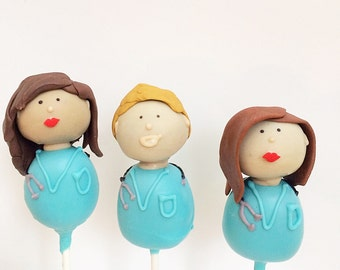 Customizable Doctor Cake Pops (1 dozen)