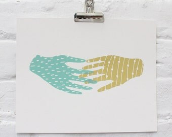 Hand in Hand Screen Print