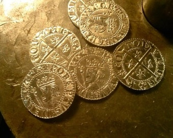 25 Pewter Pennys of Robert the Bruce