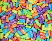 Word Beads, Bright Letter Beads, ABC beads, ABC, Jewelry, Alphabet beads, Learning toy, Craft beads, Language Development