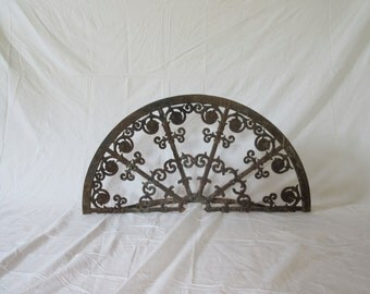 19th Century Wrought Iron Fireplace Screen, Reclaimed Wrought Iron, Antique Wrought Iron, Antique Cast Iron,