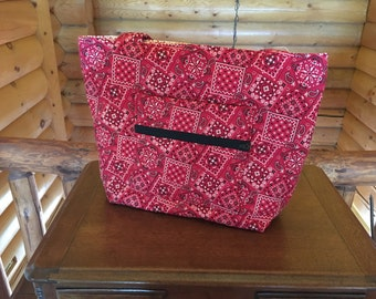 Red Bandana Handbag