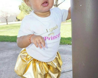 Gold Skirt Girls Skirt Baby Skirt Toddler Skirt Circle Skirt Gold Skirt