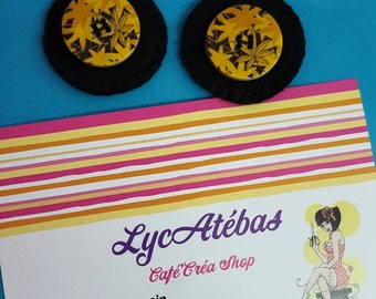 """Earrings Lycatebas """"Button leaves"""""""