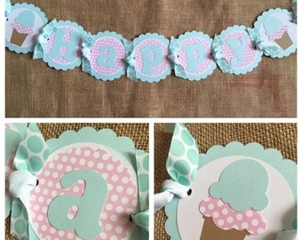 Ice Cream Birthday Banner, Ice Cream Party Banner, Ice Cream Shop Birthday Banner, Ice Cream Shop Party Banner, Ice Cream Party Decorations