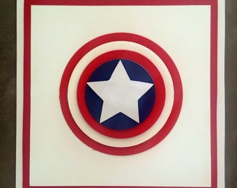 Handmade Captain America Card