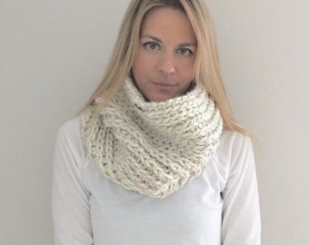 Chunky Crochet Ribbed Cowl | Wheat| The Cammello Cowl | READY TO SHIP!