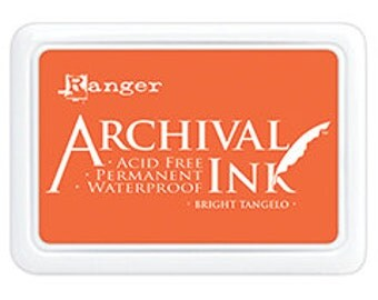 BRIGHT TANGELO Orange Archival Ink Pad by Ranger