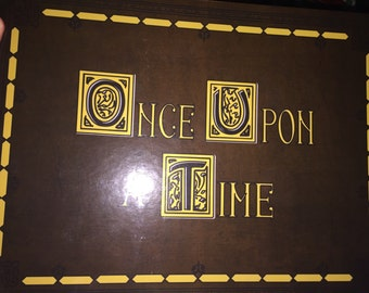 Once upon a time book - glossy with stories