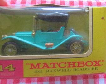Matchbox 1911 Maxwell Roadster Y-14 Vintage 1960's